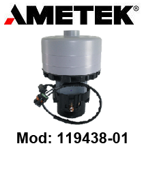 Motore Aspirazione 119438-01 AMETEK per lavapavimenti e aspirapolvere