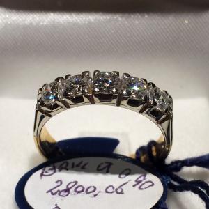 0.90 ct Diamond Ring Half Riviere