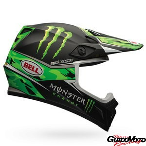 Casco cross BELL MX-9 PRO CIRCUIT REPLICA Monster, taglia XXL, nero/verde opaco