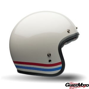 Casco BELL CUSTOM 500 STRIPES Pearl White - taglia M