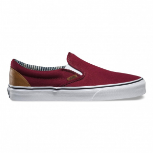 Vans Classic Slip On Stripes - Bordeaux dbeb7c3bc22