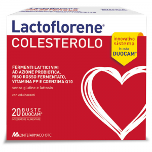 LACTOFLORENE CHOLESTEROL WITH LACTIC FERMENTS FOR PREBIOTIC ACTION AND RED YEAST RICE