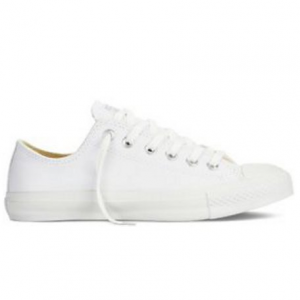 Converse Chuck Taylor Bassa Monochrome - Bianco Bianco 170aa9bd7dc