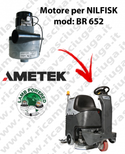 Motore aspirazione Lamb Ametek per Lavapavimenti Nilfisk BR 652
