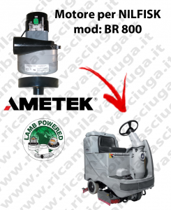 Motore aspirazione Lamb Ametek per Lavapavimenti Nilfisk BR 800