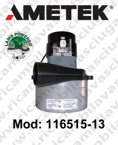 Motore aspirazione 116515-13 LAMB AMETEK  per lavapavimenti
