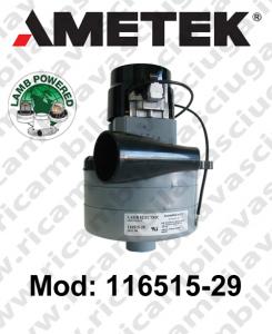 Motore aspirazione LAMB AMETEK 116515-29 per lavapavimenti
