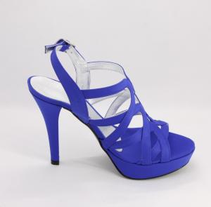 Sandalo donna in tessuto con cinghietta regolabile Art. 1081
