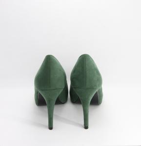 Scarpa cerimonia donna décolleté in ecopelle scamosciata color verde spuntata Scheilan Art. SC142/H