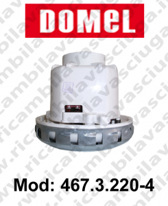 Motore di aspirazione Domel modello 467.3.220-4 per aspirapolvere e lavapavienti