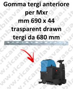 Gomma tergipavimento anteriore per lavapavimenti FIMAP modello Mxr