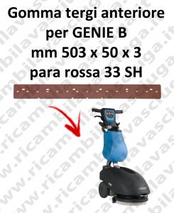 Gomma tergipavimento anteriore per lavapavimenti FIMAP - GENIE B