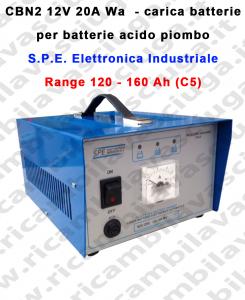 Carica batterie Mod: CBN2 12V 20A Wa per batterie acido piombo S.P.E.