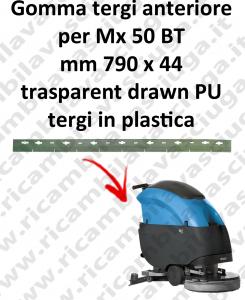 Mx 50 BT GOMMA TERGIPAVIMENTO anteriore per FIMAP ricambio lavapavimenti squeege