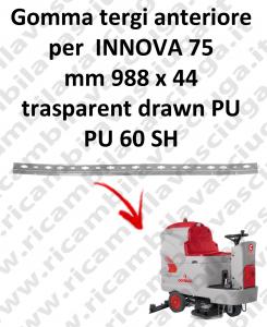 Gomma tergipavimento anteriore X lavapavimenti COMAC INNOVA 75