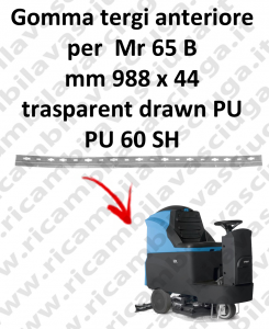 Gomma tergipavimento anteriore per lavapavimenti FIMAP - Mr 65 B