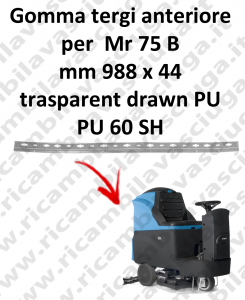 Gomma tergipavimento anteriore per lavapavimenti FIMAP - Mr 75 B