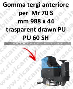 Gomma tergipavimento anteriore per lavapavimenti FIMAP - Mr 70 S