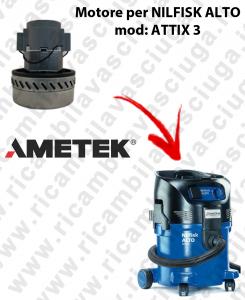 Motore aspirazione AMETEK  per aspirapolvere ATTIX 3 NILFISK ALTO