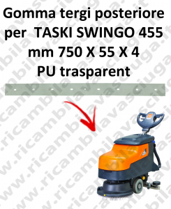 Gomma tergipavimento posteriore per lavapavimenti TASKI Swingo 455