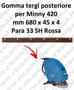 MINNY 420  GOMMA TERGIPAVIMENTO posteriore per FIMAP ricambio lavapavimenti squeegee