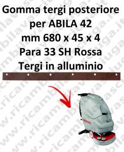 Gomma tergipavimento posteriore per lavapavimenti COMAC modello ABILA 42