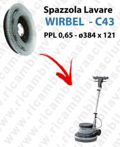 SPAZZOLA LAVARE  per monospazzola WIRBEL C43. Modello: PPL 0,65  ø384 X 121