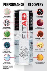 FITAID - Il Primo Drink 'Paleo Friendly' Per La Performance ed il Recupero Muscolare! Arricchito Con  BCAA, Vitamina D e Omega 3