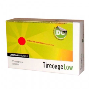 TIREOAGE LOW-NATURAL WELLNESS for HYPOTHYROID-dietary supplement useful for Metabolic equilibrium.