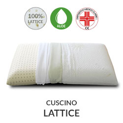 Cuscino lattice con tessuto Aloe Vera