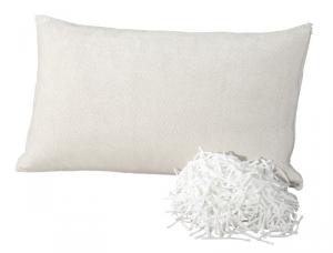 Cuscino Fiocco Memory Tessuto Ciniglia di Cotone