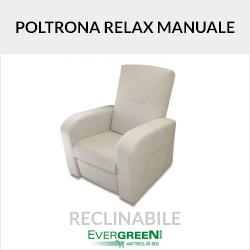 Poltrona reclinabile con meccanismo relax