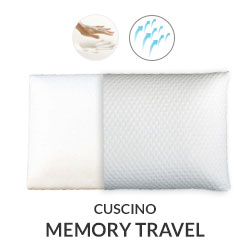 Cuscino Memory Travel con tessuto AirSpace