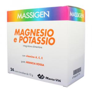 MASSIGEN MAGNESIO POTASSIOCON VITAMINA A,C,E GUSTO ARANCIA ROSSA