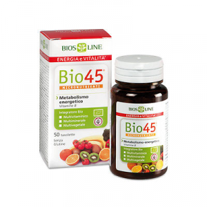 Bio45 MULTIVITAMINICO MULTIMINERALE contro STANCHEZZA e DIETA SQUILIBRATA