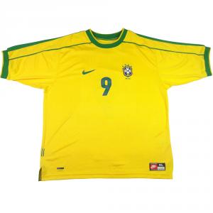 1998-00 Brasile Maglia Ronaldo #9 XL