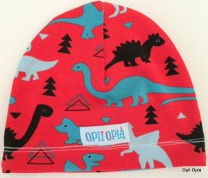 Dinosauro rosso - cuffia classica in cotone