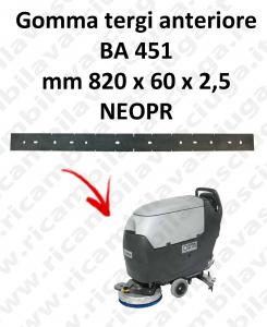 BA 451 GOMMA TERGI anteriore per tergipavimento Nilfisk