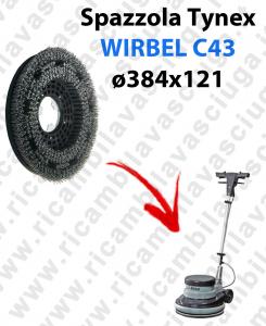 SPAZZOLA TYNEX  per monospazzola WIRBEL C43. Modello: tynex  ø384 X 121