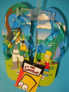 Simpsons Homer Bart Pesca Infradito Bambino Ciabatte Mare Piscina