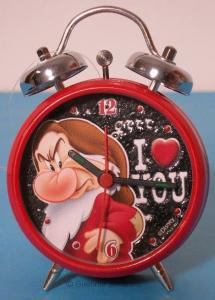 Disney Sette Nani Brontolo sveglia metallo con allarme