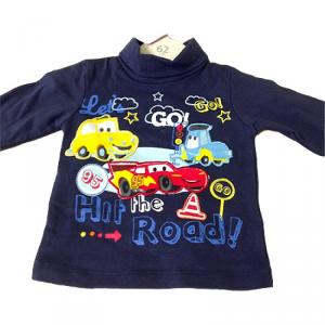 Disney Cars Maglia manica lunga neonato bambino da 3 a 24 mesi Cotone Blu Originale