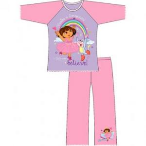 Dora Eploratrice pigiama bambina rosa 1 a 4 anni