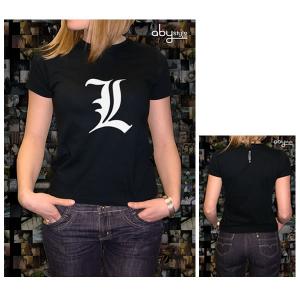 Death Note logo L T-Shirt ragazza manica corta nuova cotone sfiancata da S a XL