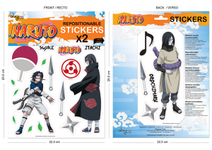 Naruto set stickers 22 cm personaggi #2