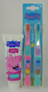 Peppa Pig set igene dentale dentifricio spazzolini