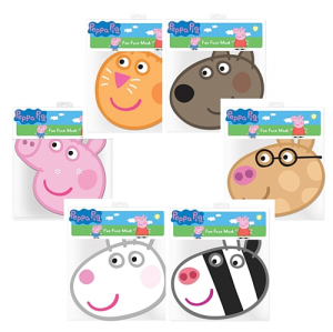 Peppa Pig 6 maschere assortite cartone