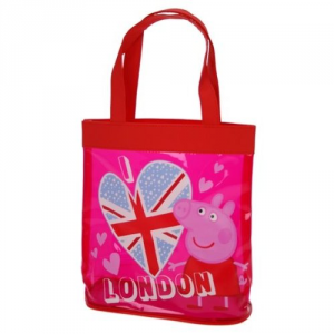 Peppa Pig Borsa Shopper PVC trasparente London 22 cm