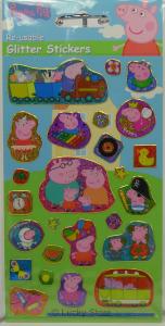 Peppa Pig adesivi glitter riutilizzabili
