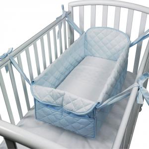 Mini letto riduttore 360° completo trapuntato Azzurro